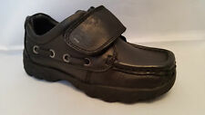 Boys Buckle My Shoe Acer Black Leather Velcro Fastening School Shoes - BNIB
