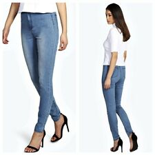 Freya Womens joni  Highwaisted  Blue  one button super stretch Skinny Jeans jegg