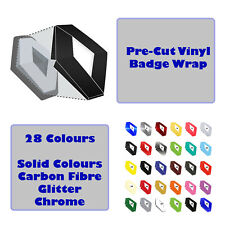 Renault Clio Mk3 Phase  Vinyl Overlay Badges Wrap Set Front Rear Badge 29 Colour