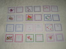 BUMPER PACK CARD INSERTS partycascades printed assorted sizes // designs