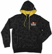 Kini Red Bull Zip-Hoody Kapuzenpullover Hoodie Sweatshirt Crowns Allover Schw...