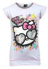 NEW Girls Hello Kitty Sunglasses Kitty White Cap Sleeved T Shirt Age 8-9 years
