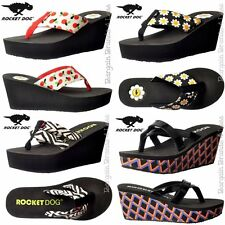 Womens Rocket Dog Daisyfield Appletart Momentum Delfina Wedge Flip Flops Sandals