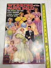 Paper Dolls, Wedding Of The Paper Dolls, 10 Dolls, 120 Piece, By Lucille Webster