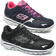 Ladies Skechers GO Walk 2 Flash Lace Up Running Trainers Lightweight Shoes