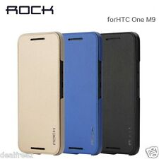 Rock Touch Series Smart Luxury Flip Cover Case for HTC ONE M9 Black Blue Golden