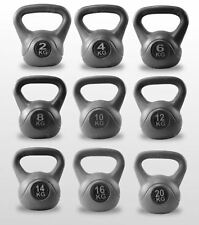 Kettlebell Training Fitness Weights Vinyl Kettle Bell Home Gym Exercise
