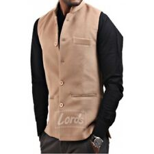Ethnic Wear Men's Sleeveless Nehru Jacket - Blended Mill Made Suiting