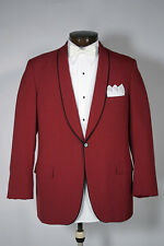 Blazer stylish Marron with black trimmings , single button Blended mill made Fab