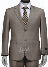 Men's Corporate Wear Mid Brown Suit - Two Button Blazer, Trouser, Shirt and Tie