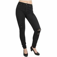 Dr. Denim Damen Jeans Regina Black Destroyed