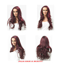 """JADORE BAILEY HANDMADE FULL FRONT LACE HUMAN HAIR BLEND WIG 24"""" LONG + FREE GLUE"""