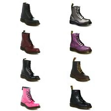 Dr. Martens Mens Womens Docs Leather Ankle Boots Lace Up Casual Winter Mid Calf