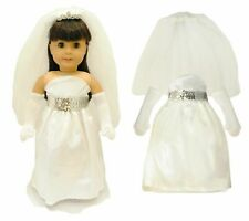 Doll Clothes Bridal Communion Dress Fit American Girl 18 Inch Doll Clothing New