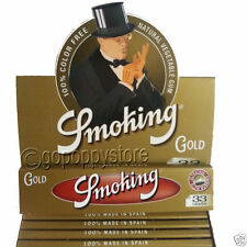 SMOKING GOLD King Size Vegetable Gum Rolling Paper Rizla Cigarette Papers Box