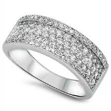 Thick Band CZ Ring, 925 Sterling Silver, w/ Free Gift Box, Girly, Trendy, Mom