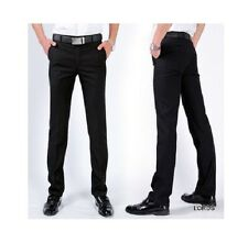 Men's Formal Black Trouser, Non-Pleated, Blended Fabric, Comfort Fit - MT-31