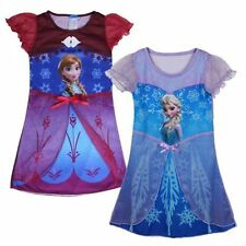 UK STOCK Frozen Night Dress Nightie Summer holiday Dress Elsa Anna 3 - 8 years