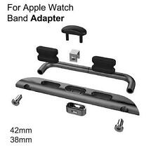 APPLE WATCH STRAP BAND ADAPTERS STAINLESS STEEL METAL AXLE CONNECTORS 38MM 42MM