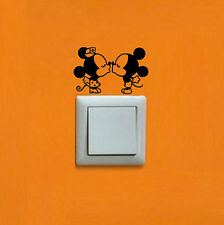 Pegatina - Sticker - Mickey & Minnie - Vinilo - Vinyl - Wall Decal INTERRUPTOR