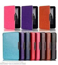 Sleek PU Leather Flip case cover for all New Amazon Kindle wifi Ereader 7th gen