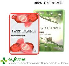 BEAUTY FRIENDS MASK SHEET 23G  MASCARILLA BABA DE CARACOL, COENZIMA Q10...