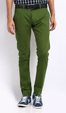 MENS   FORMAL TROUSER, NON PLEATED,OLIVE GREEN SIYARAM'S MILLS