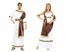 GREEK / EGYPTIAN STYLE GOD OR #GODDESS WITH BROWN SASH ANCIENT FANCY DRESS PARTY