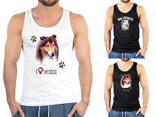 Collie Motiv T-Shirt  - Hunderassen Trägershirt Collie / Langhaar Collie - Hunde