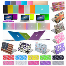 """Rubberized Case Shell+Keyboard Cover For Macbook Pro Retina 12/13/15"""" Air 11/13"""""""