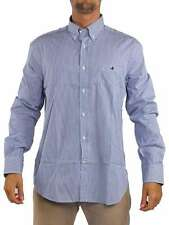 BROOKSFIELD RIGA LARGA BUTTON-DOWN BIANCO/BLU G03F T004 Camicia manica lunga Uom