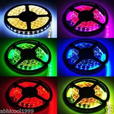 5 METER M CUTTABLE LED STRIP WHITE/BLUE/MULTI COLOR/GREEN/RED/WARM WHITE/ADAPTER