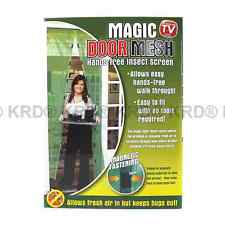 Magic Door Mesh As Seen on TV Fastening Magnetic Fly Screen Bug Insect Curtain