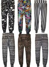NEW LADIES WOMENS PRINTED COMIC ALI BABA HAREEM BAGGY TROUSERS  8-28