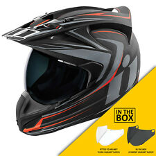 Icon Variant Raiden Carbon Motorcycle Enduro Adventure Helmet + FREE VISOR