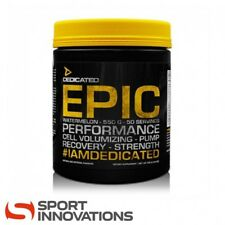 Dedicated Nutrition Epic V2.0 50 Servings 550g USA Creatine Pre-Workout Booster