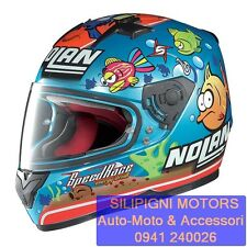 CASCO INTEGRALE NOLAN N64 GEMINI Replica M.Melandri AQUARIUM 42 Metal Pearl Blue