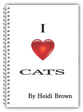 A5 & A4 PERSONALISED NOTEBOOKS, NOTE BOOK, JOTTER, 50 LINED OR BLANK /CATS 01