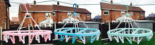 Hanging Clothes Airer 20 Peg Line Laundry Washing Dryer Indoor Outdoor Hanger