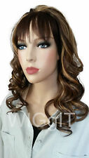 BLOSSOM | HALF WIG | BLONDE BROWN RED | SYNTHETIC LONG CURLY | HAIR COUTURE