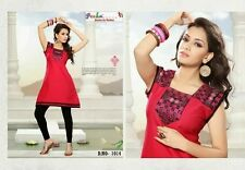 Indian designer kurti Anarkali tunic tops with attached sleeves
