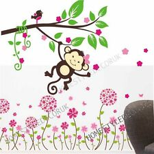 Large 2 packs- Pandora Flower Monkey Tree Wall Stickers Kids Bedroom Decal Decor