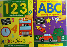 Preschool Educational Activity Workbook & Sticker Book (Counting and ABC)