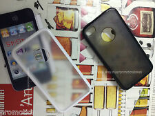 Rubber Bumper Transparent Protective Back Case Cover For Apple iPhone 4 4G 4S