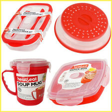 Microwave Heat And Eat Containers BPA Free Plastic Microwavable Airtight Lunch