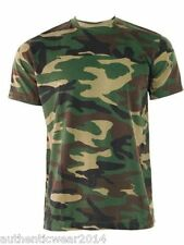 Military Camouflage Camo Tee Ideal for Hunting Fishing British Army T shirt