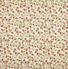iLiv Clarice Leaves Polyester Woven Curtain Upholstery Blind Fabric | Cherry