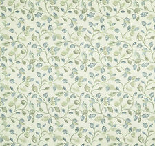 iLiv Clarice Leaves Polyester Woven Curtain Upholstery Blind Fabric | Cornflower