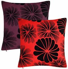 LUXURIOUS AND GREAT QUALITY FLORAL CUSHION COVERS ONLY OR WITH FILLED CUSHION.