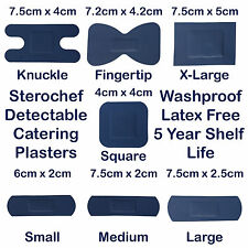 STEROCHEF STERILE CATERING KITCHEN BLUE DETECTABLE WASHPROOF FIRST AID PLASTERS